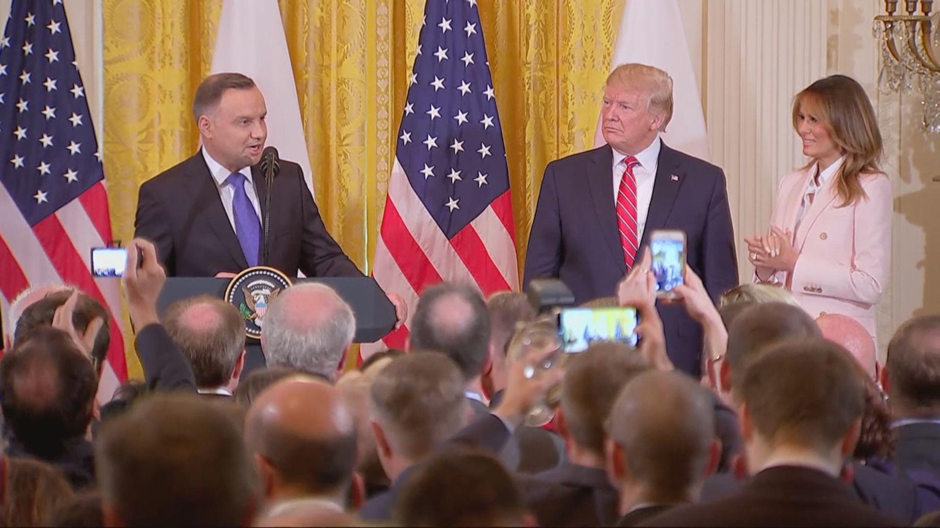 特朗普承諾向波蘭增派一千美軍