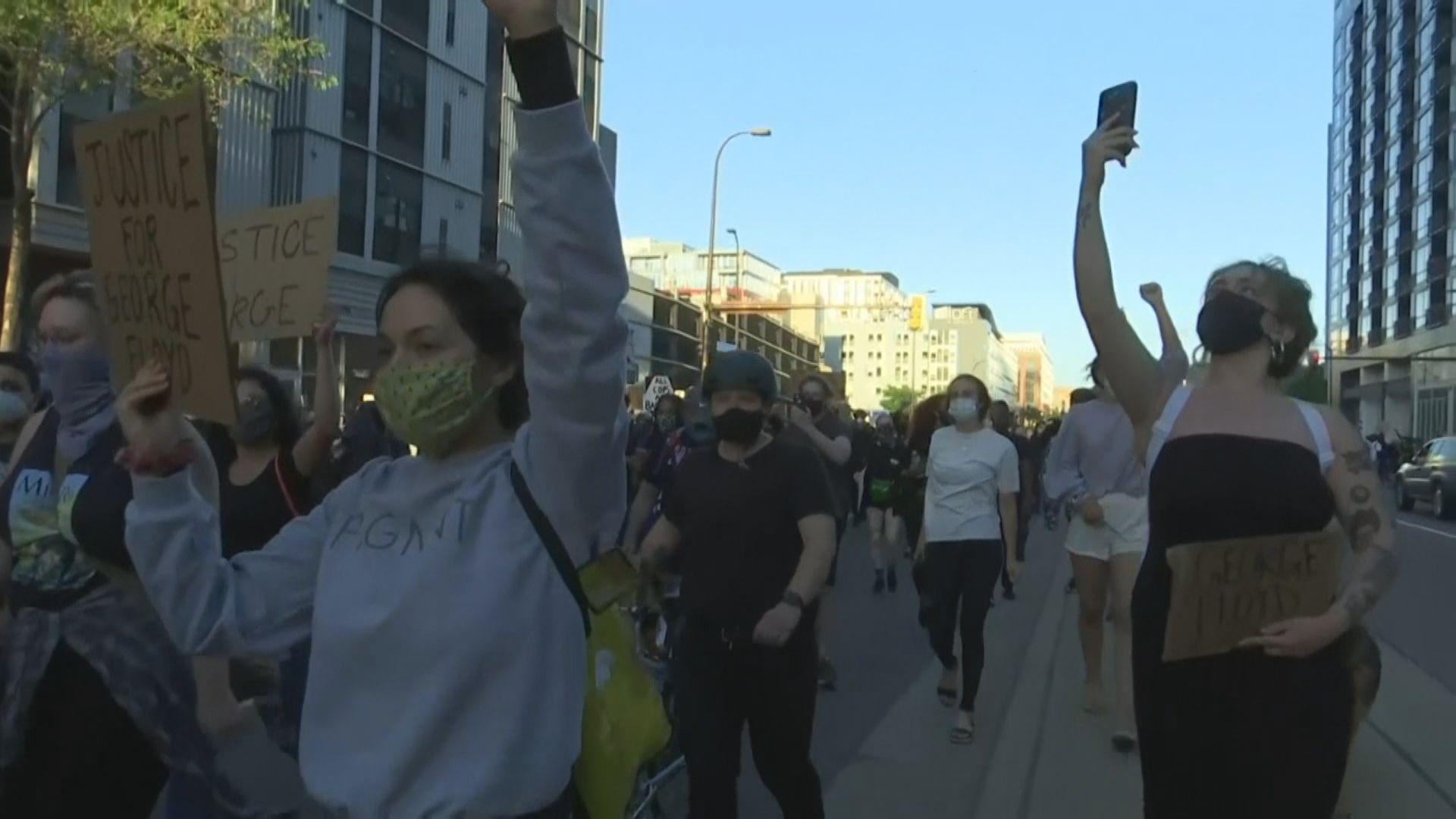 抗議警員過度使用武力示威在全美蔓延