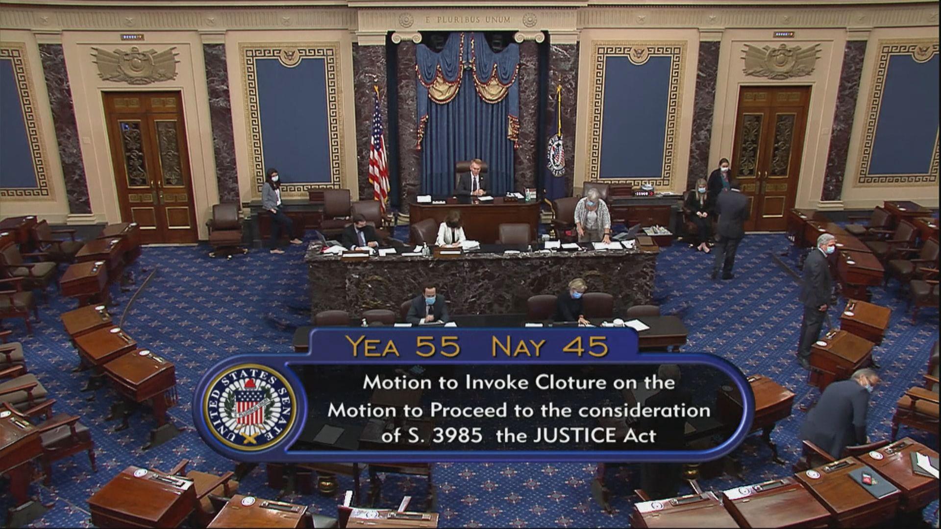 美國參議院否決共和黨提出警隊改革議案