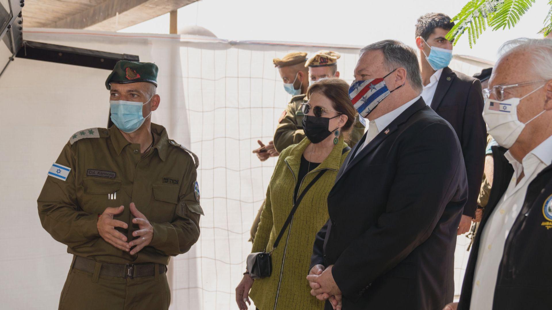 蓬佩奧到訪約旦河西岸猶太人殖民區