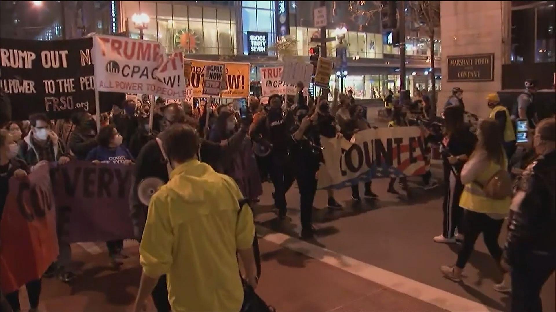 美國多地有示威 要求點算所有選票