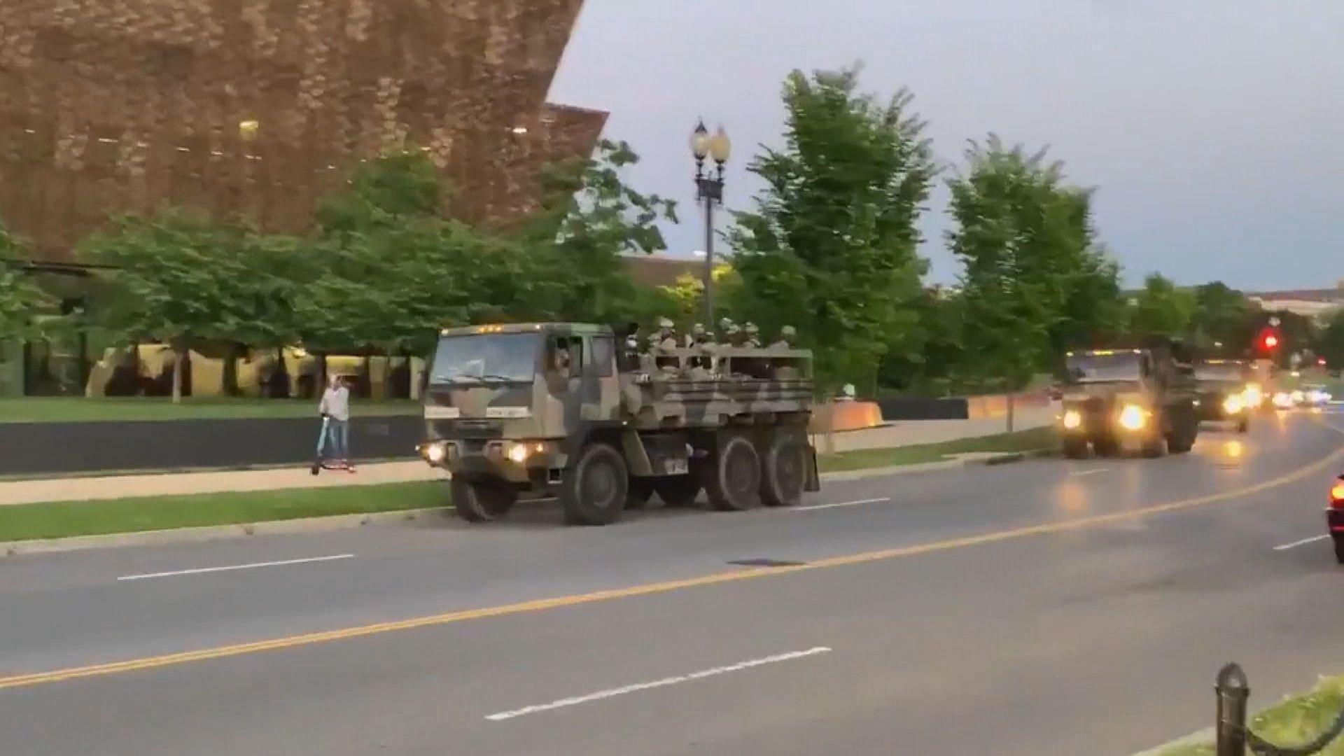 示威浪潮持續 美國防部增兵到首都華盛頓一帶戒備