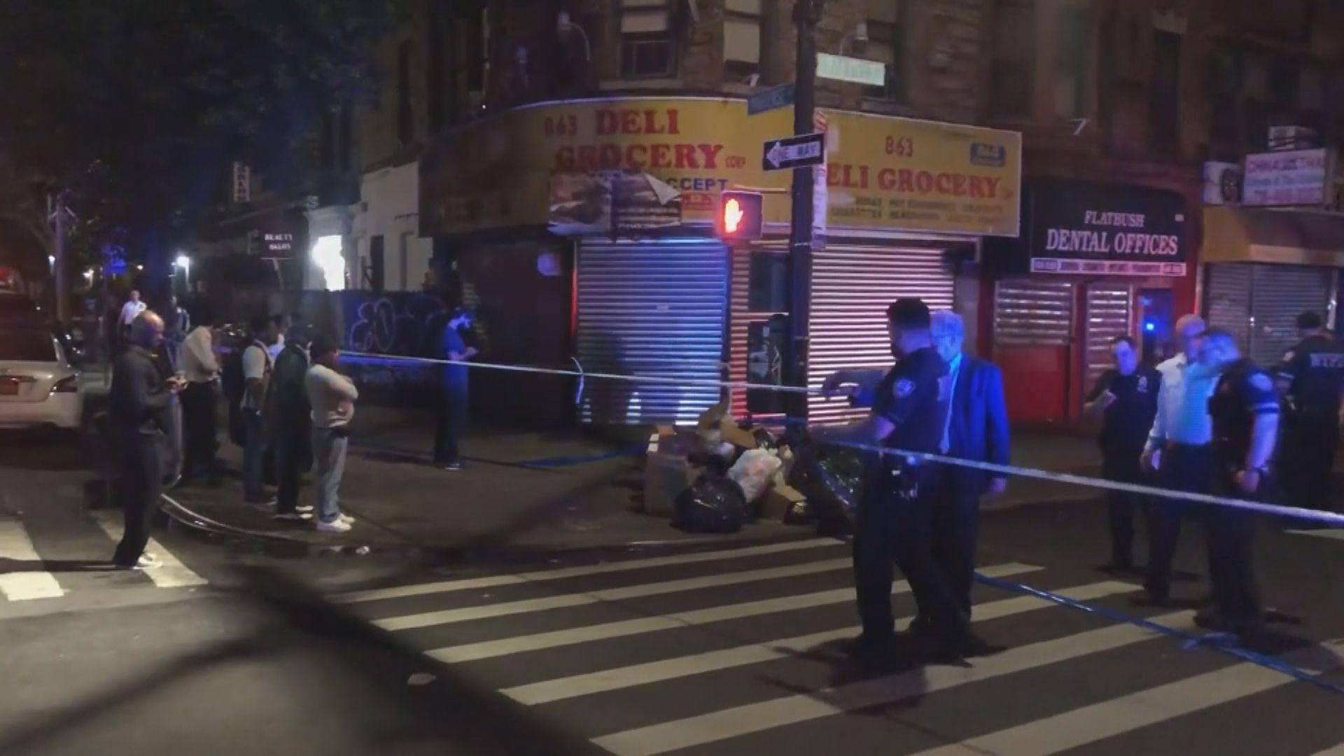 紐約示威有警員遭割傷及槍傷