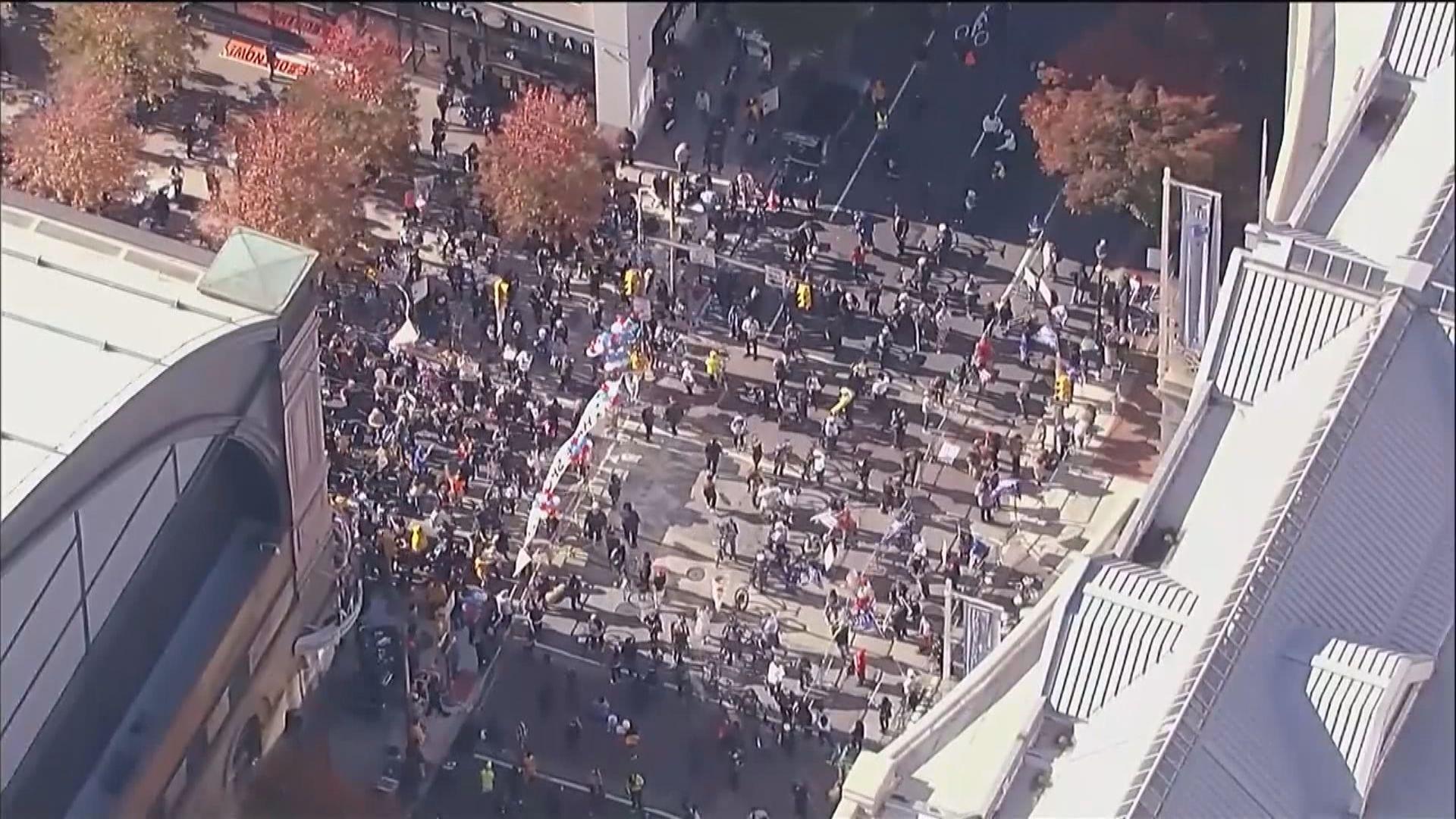 美國各地持續有拜登和特朗普支持者示威