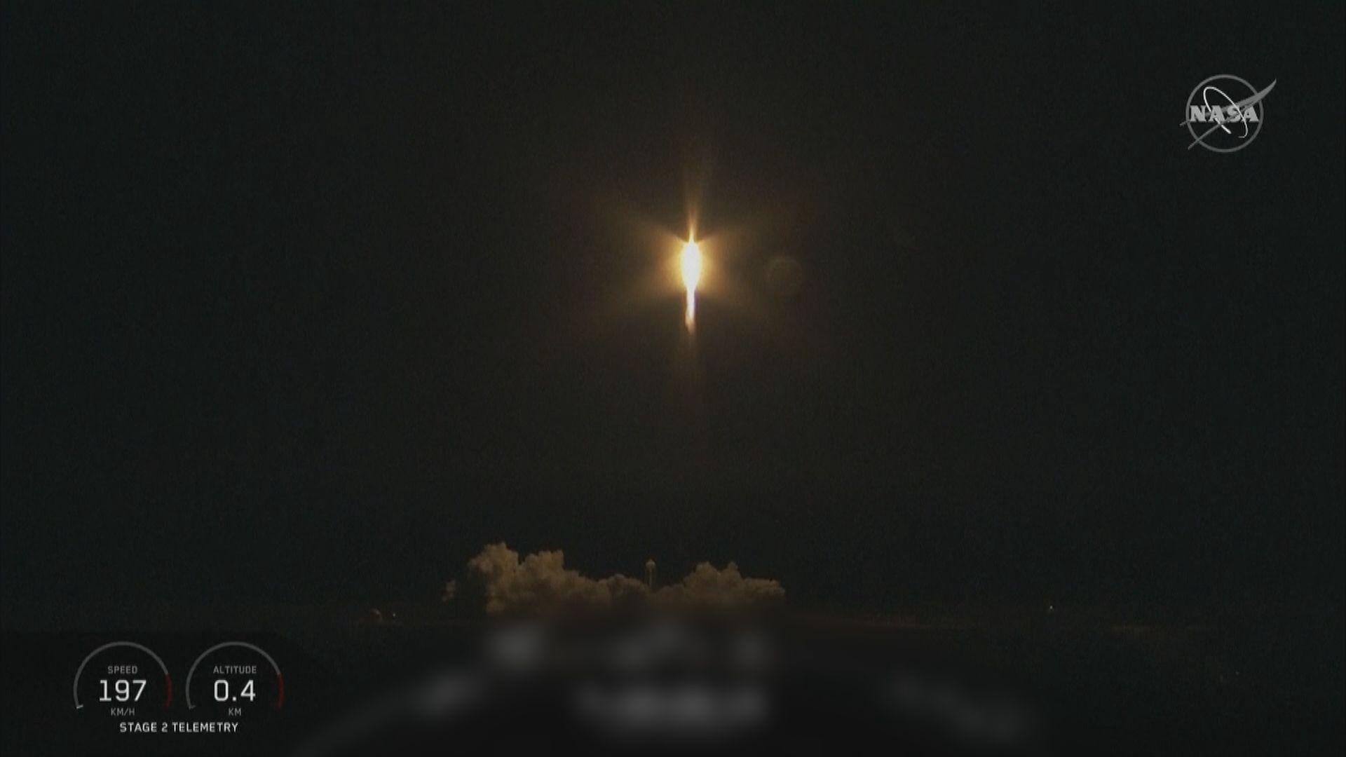 美國載人太空船測試發射升空