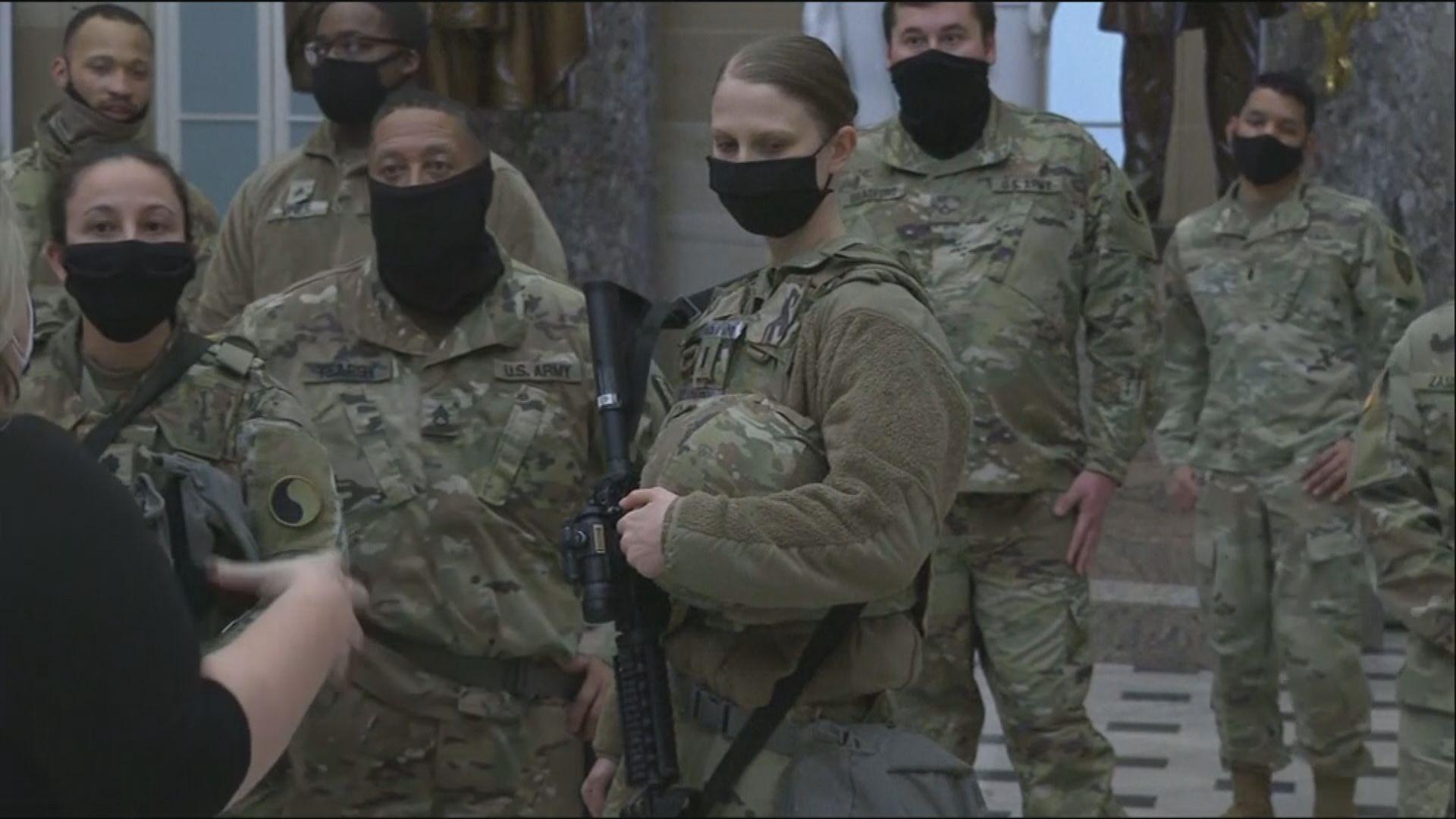 12名國民警衛軍經審查移離崗位 有人與右翼組織有關