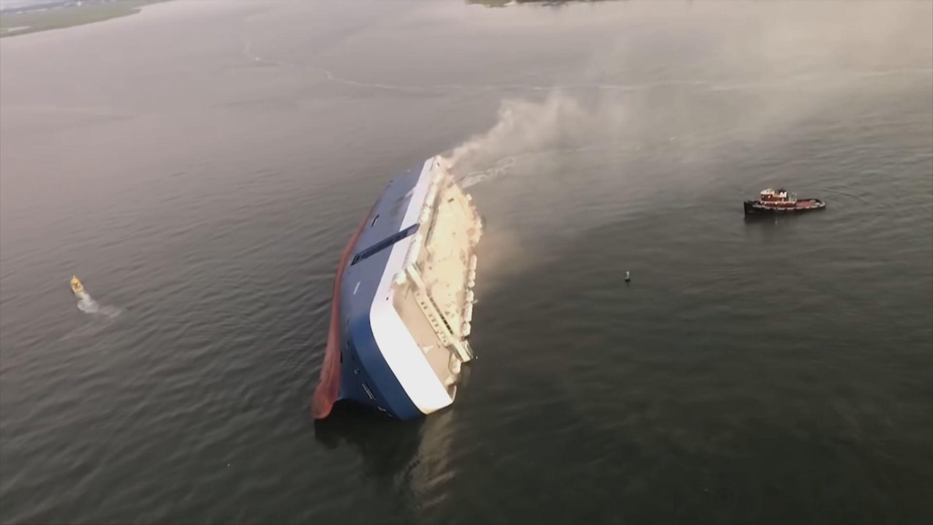 南韓貨船美國海域翻側所有人獲救