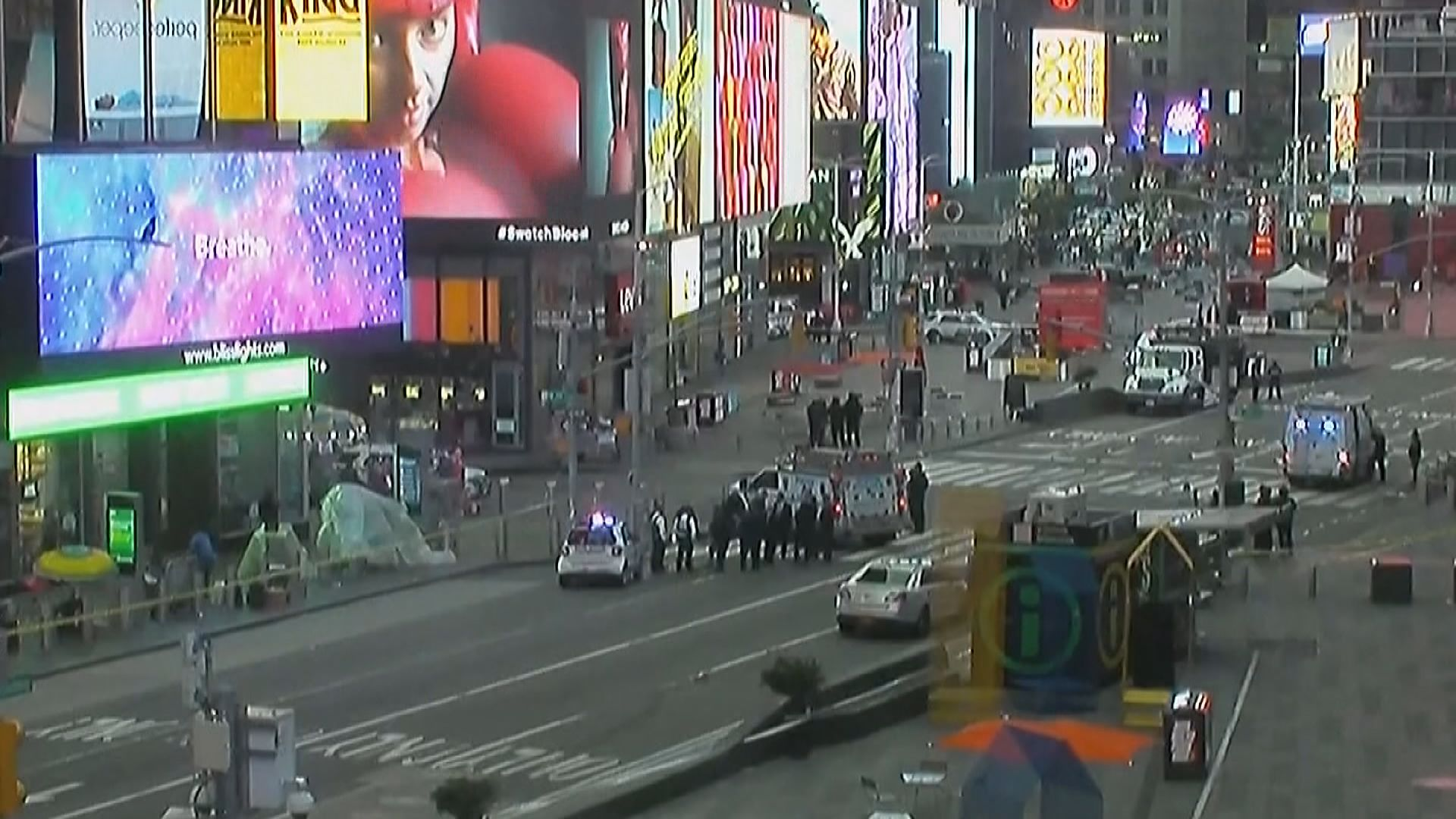 紐約時代廣場發生槍擊事件三人傷