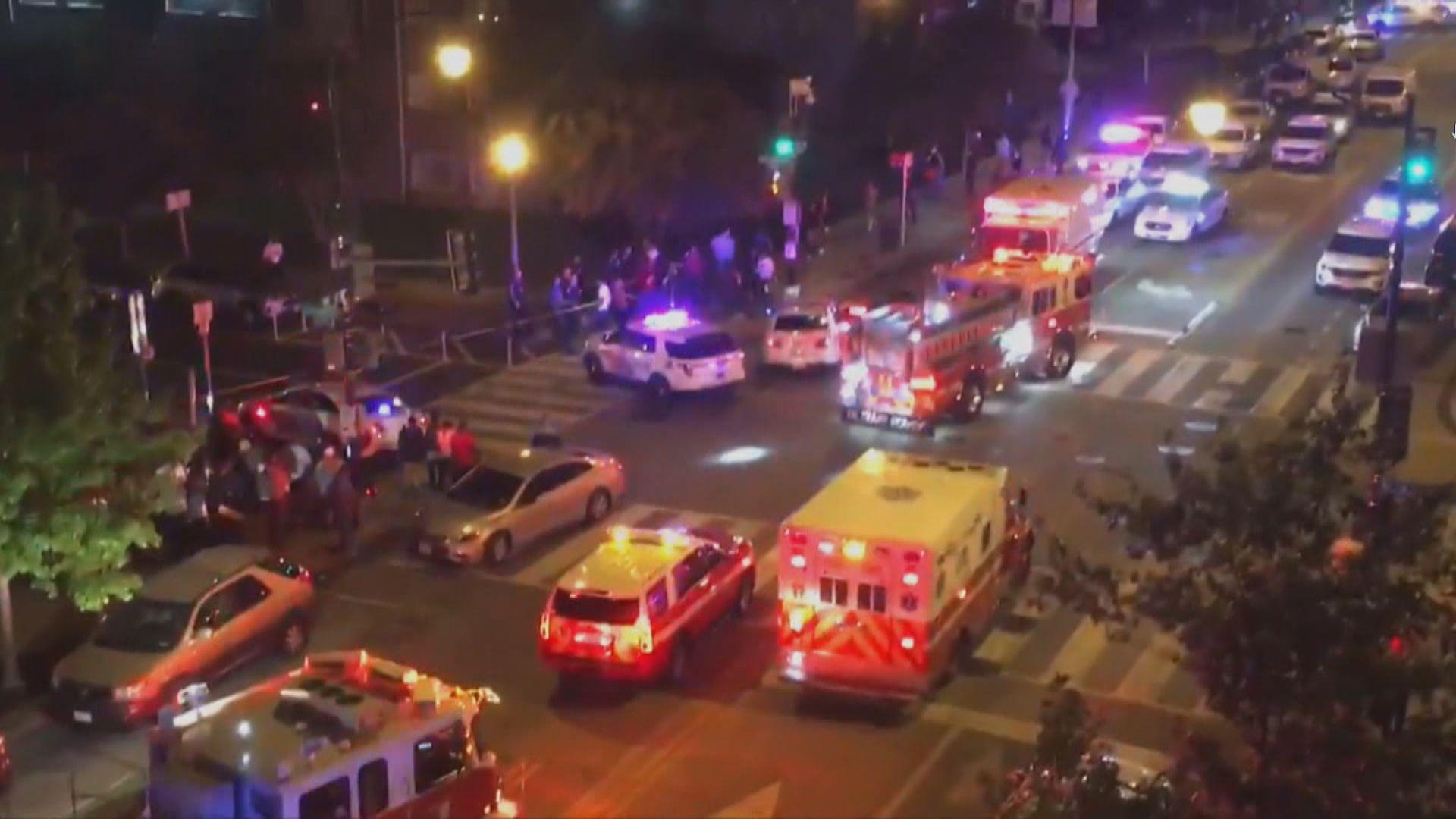 美國華盛頓接連兩宗槍擊案一死八傷