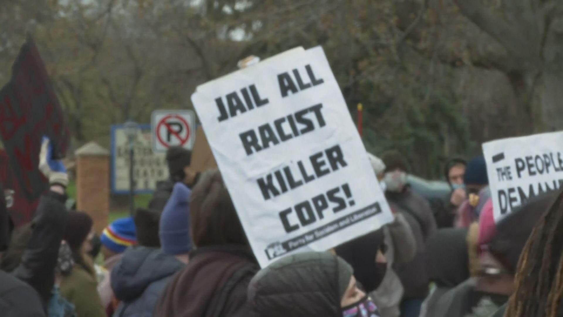 明尼蘇達州續有民眾抗議警方擊斃非裔男子