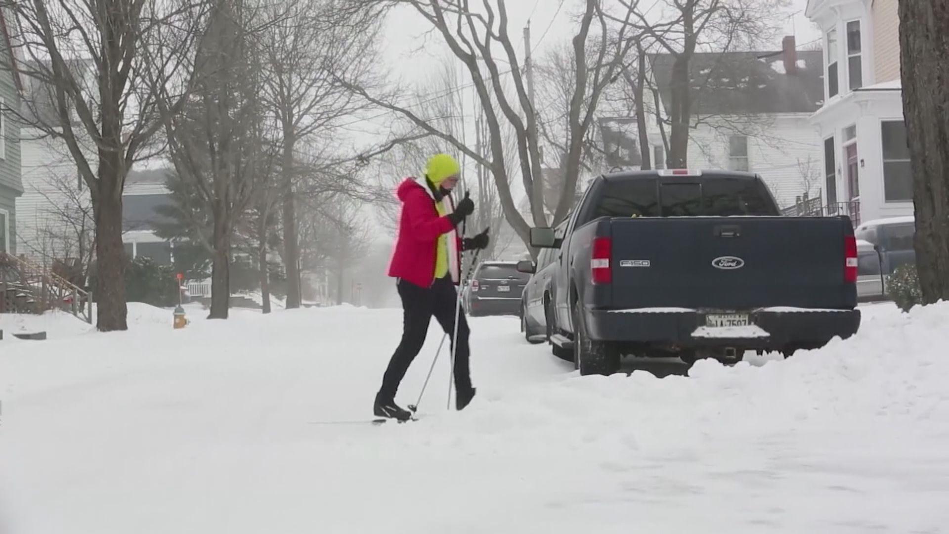 美國東北部多個州份受暴風雪吹襲