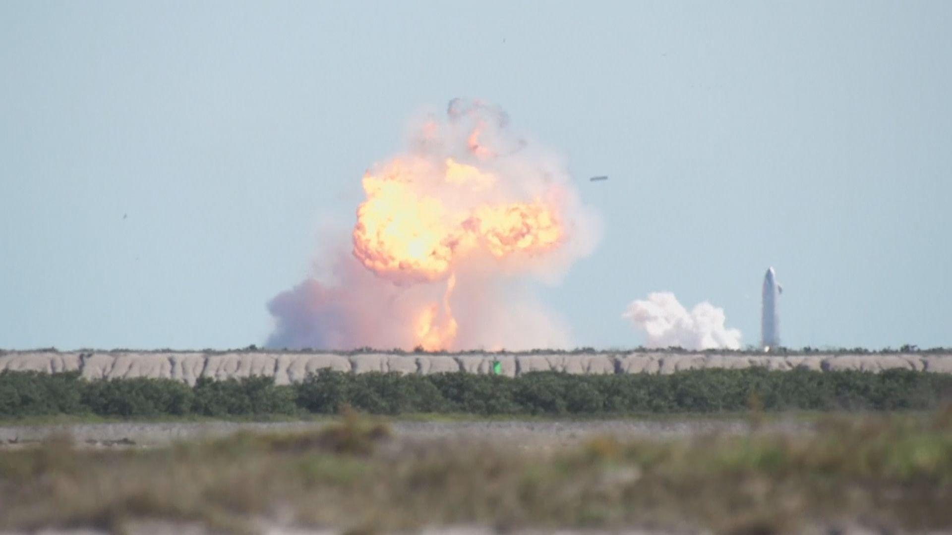 SpaceX星際飛船試飛著陸後爆炸