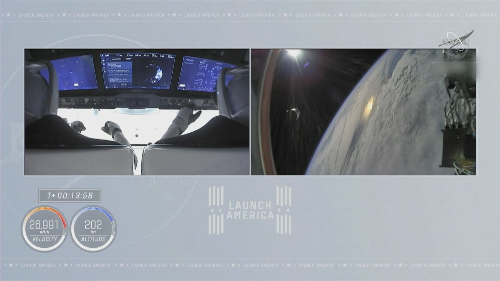 SpaceX首次利用回收火箭 成功送人上太空