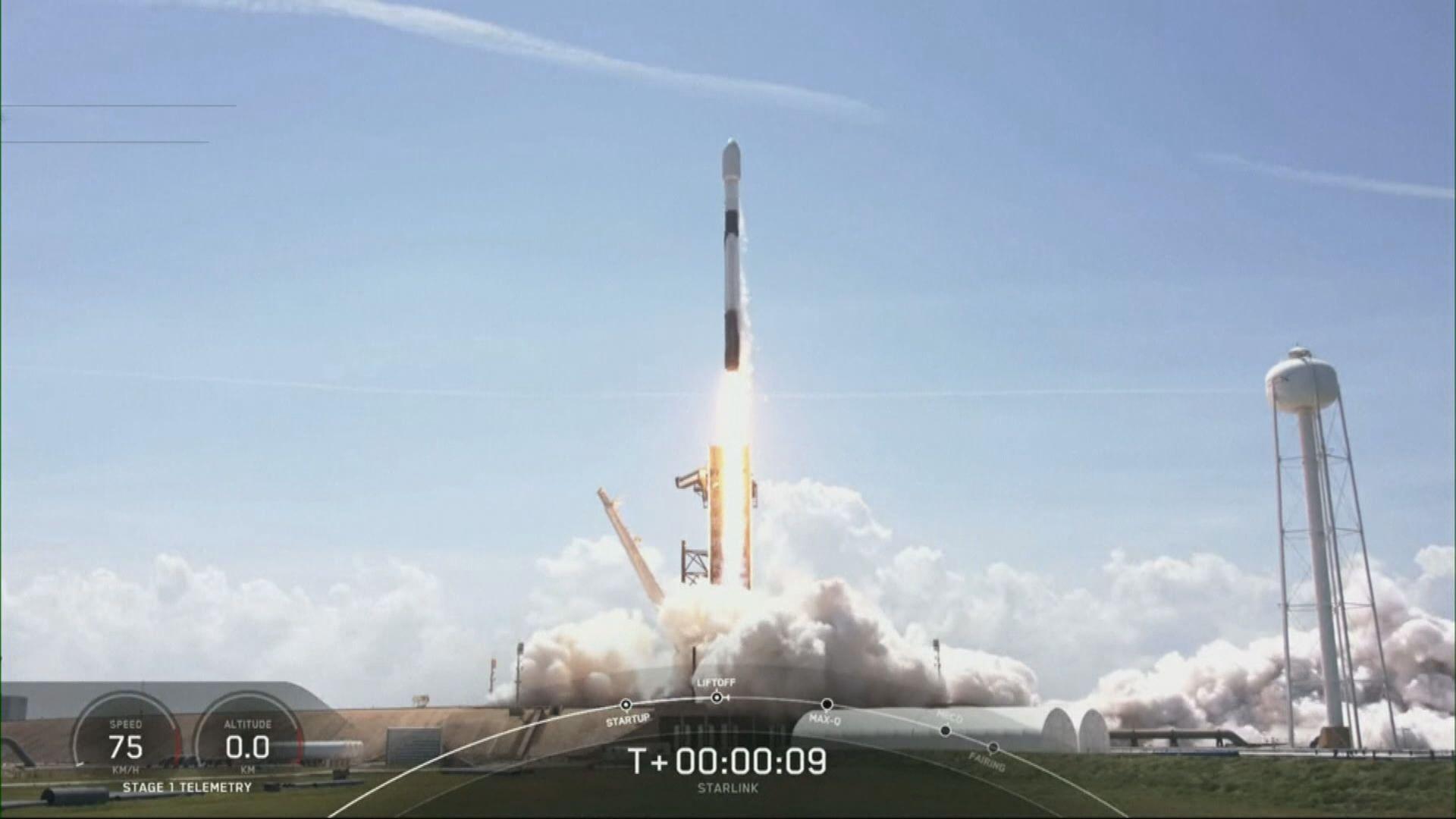 美國再發射60顆「星鏈」衛星上太空