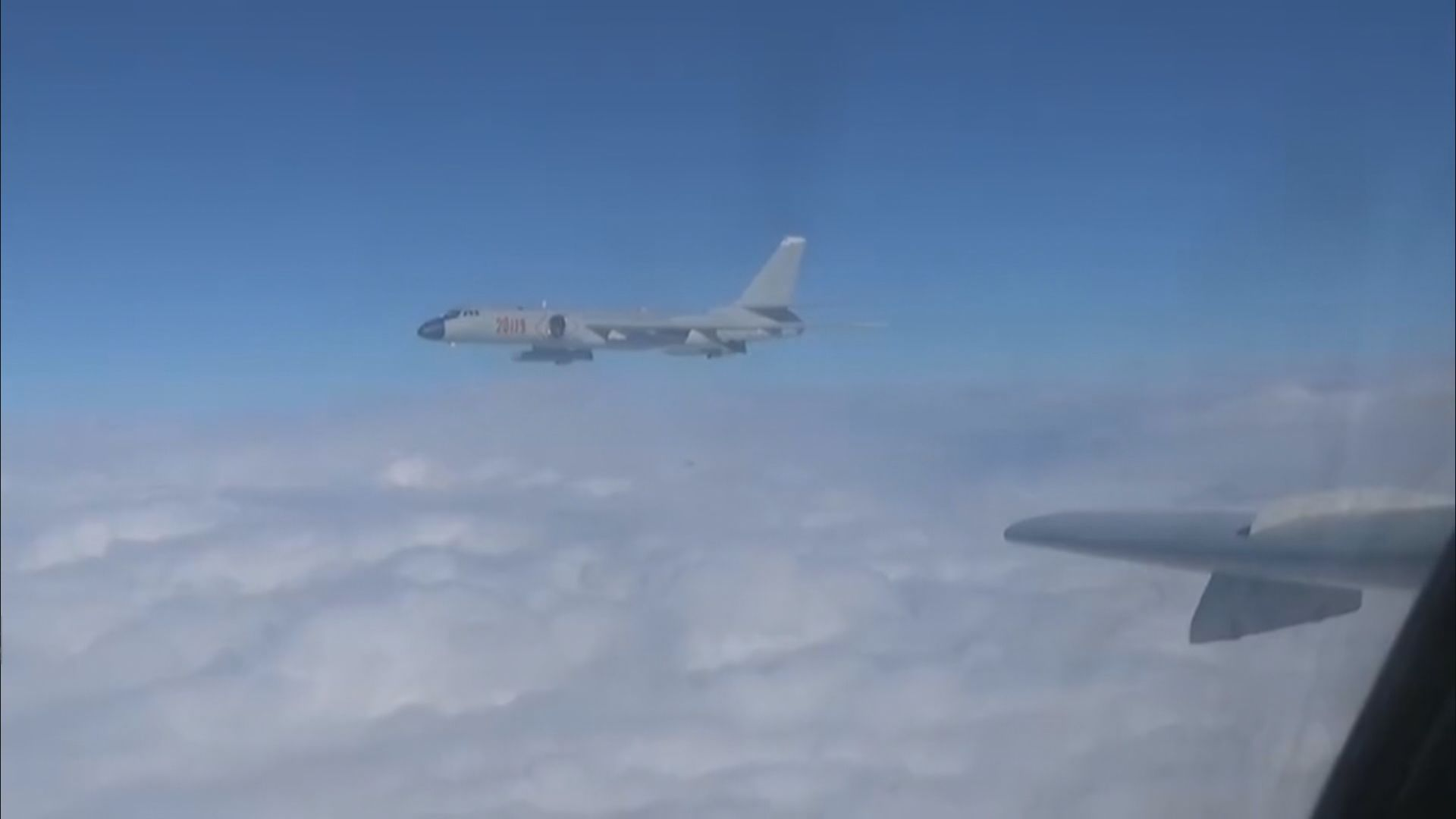 台灣指解放軍戰機轟炸機進入防空識別區