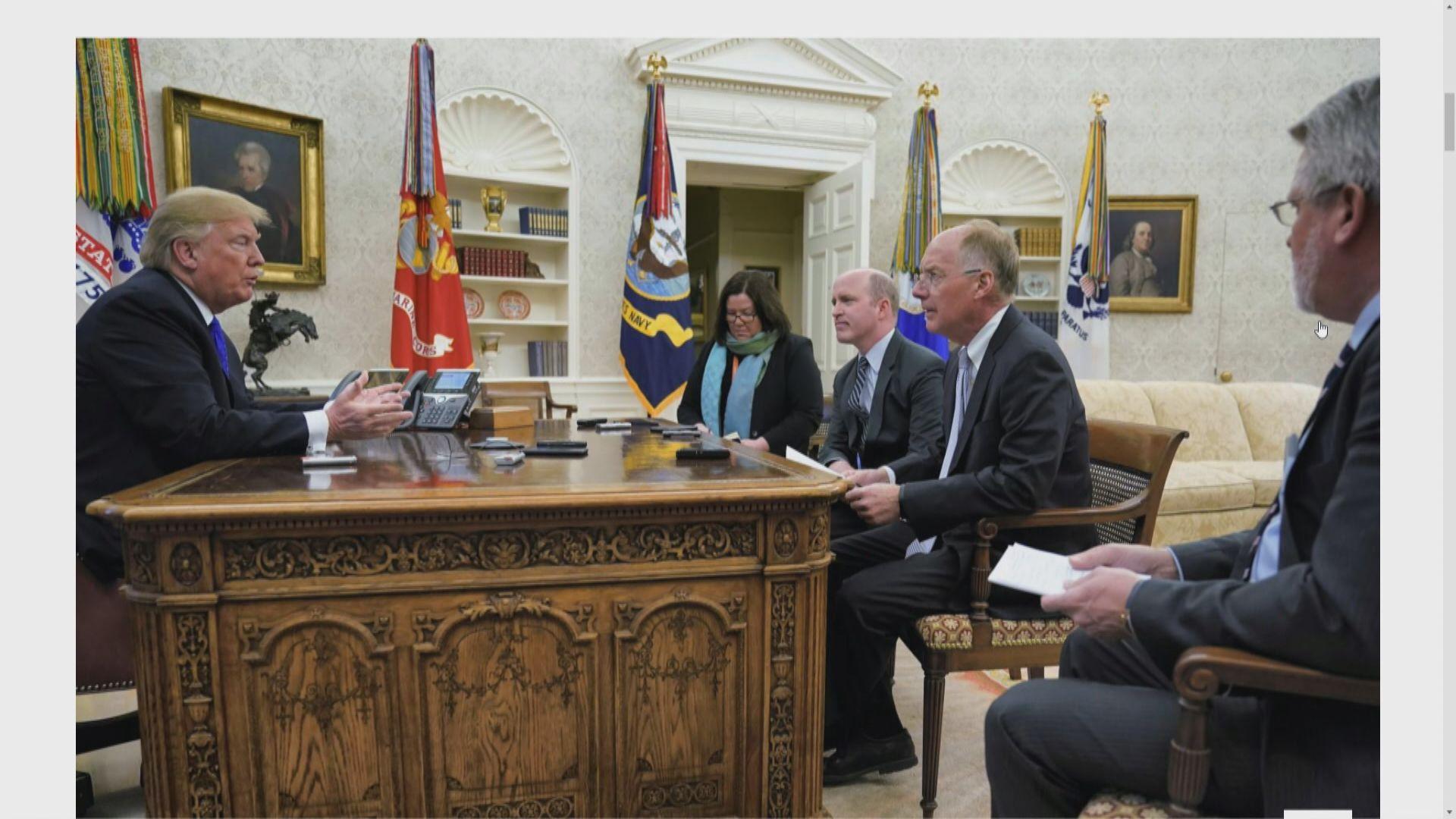 特朗普:若有助中美貿易協議會介入孟晚舟案
