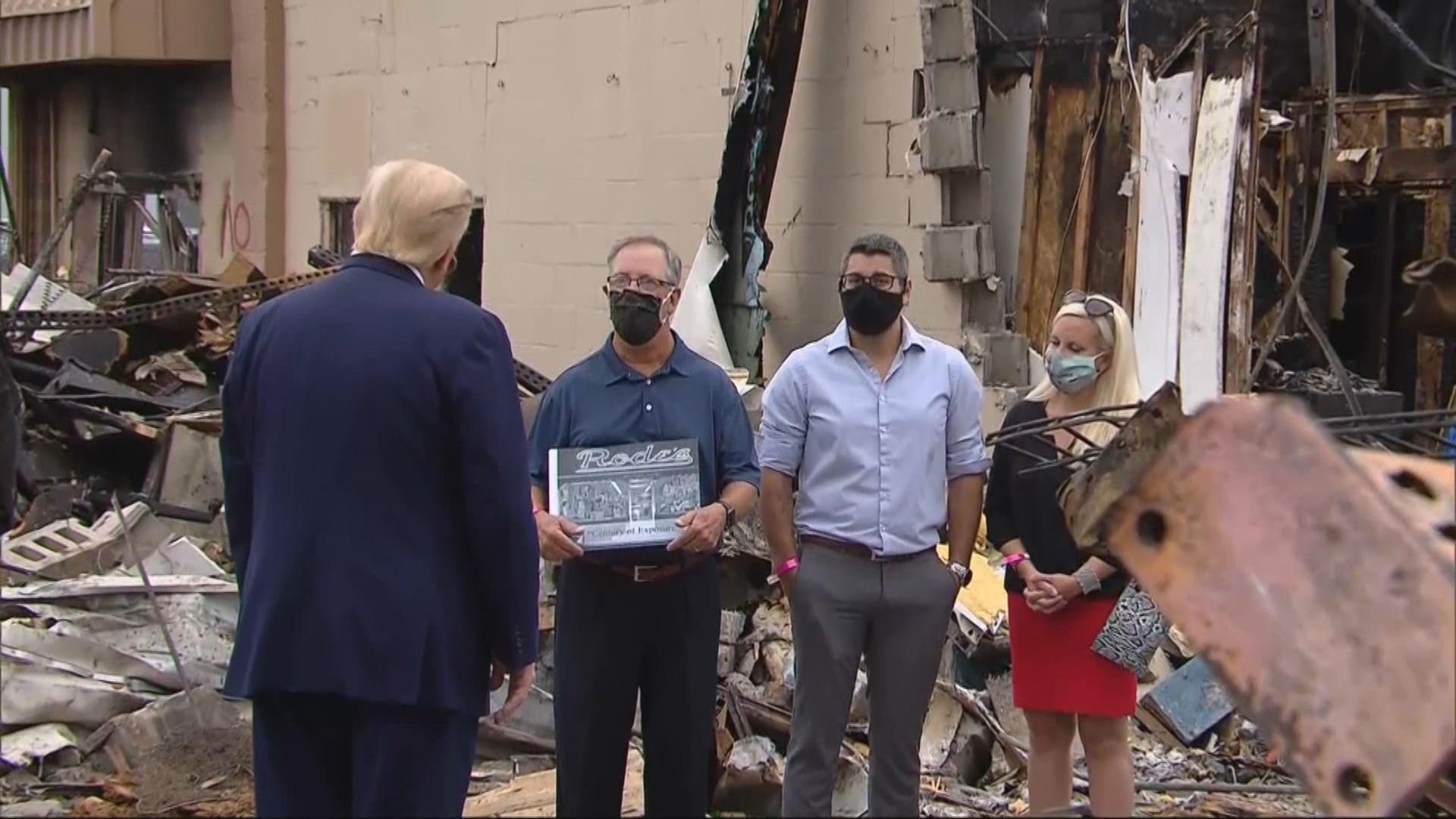 基諾沙市爆反種族歧視示威 特朗普允聯邦政府提供款項重建