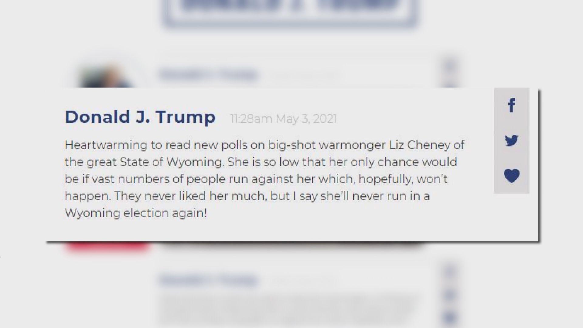 特朗普在個人網站設通訊平台 最新帖文針對切尼女兒