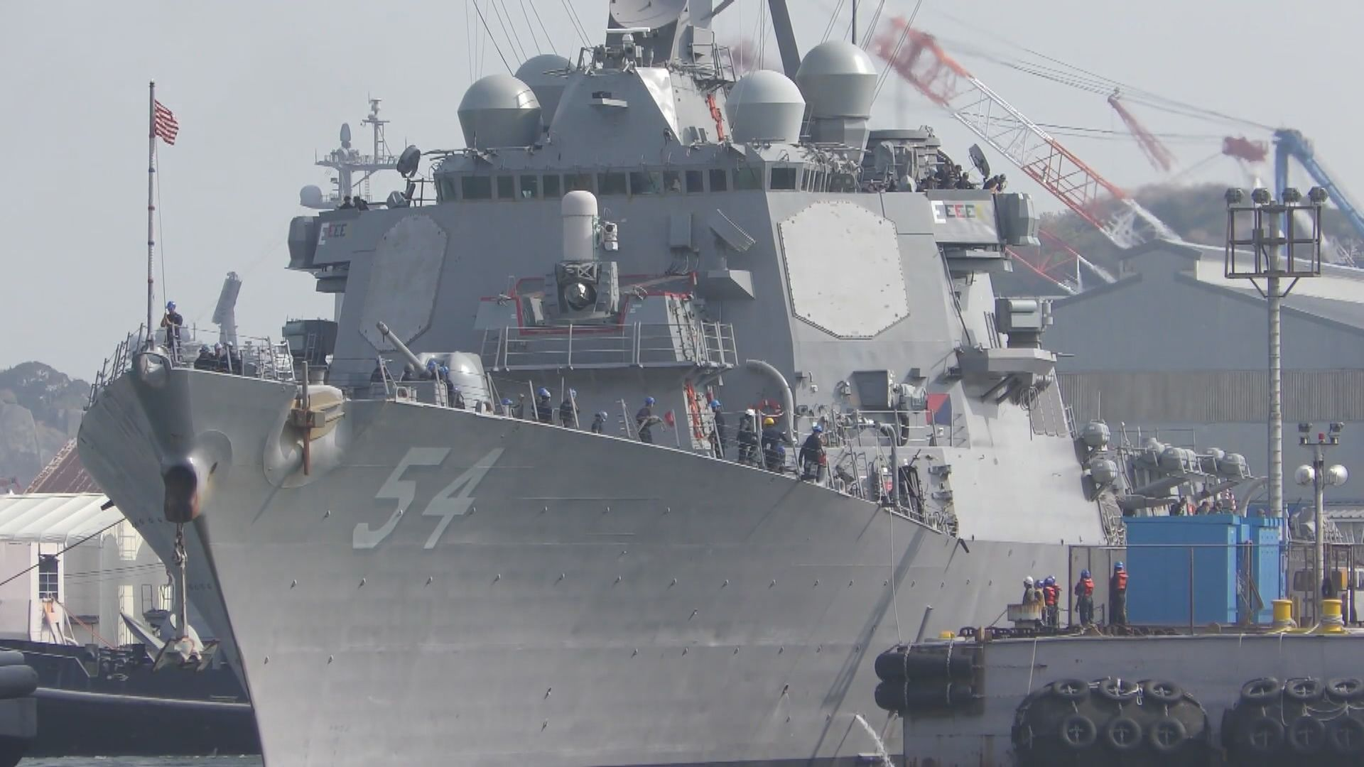 兩艘美軍軍艦駛經台灣海峽