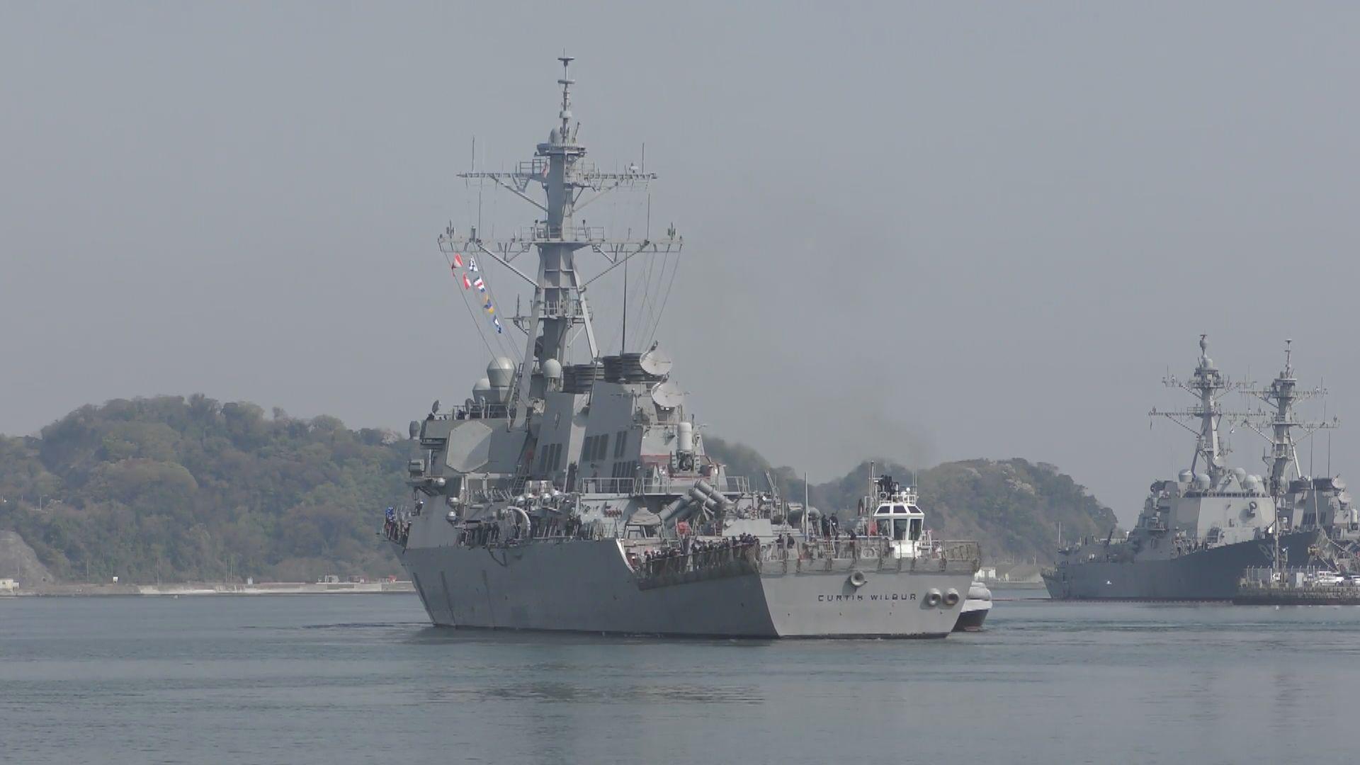 美軍艦再經台海 中促美慎重處理涉台問題