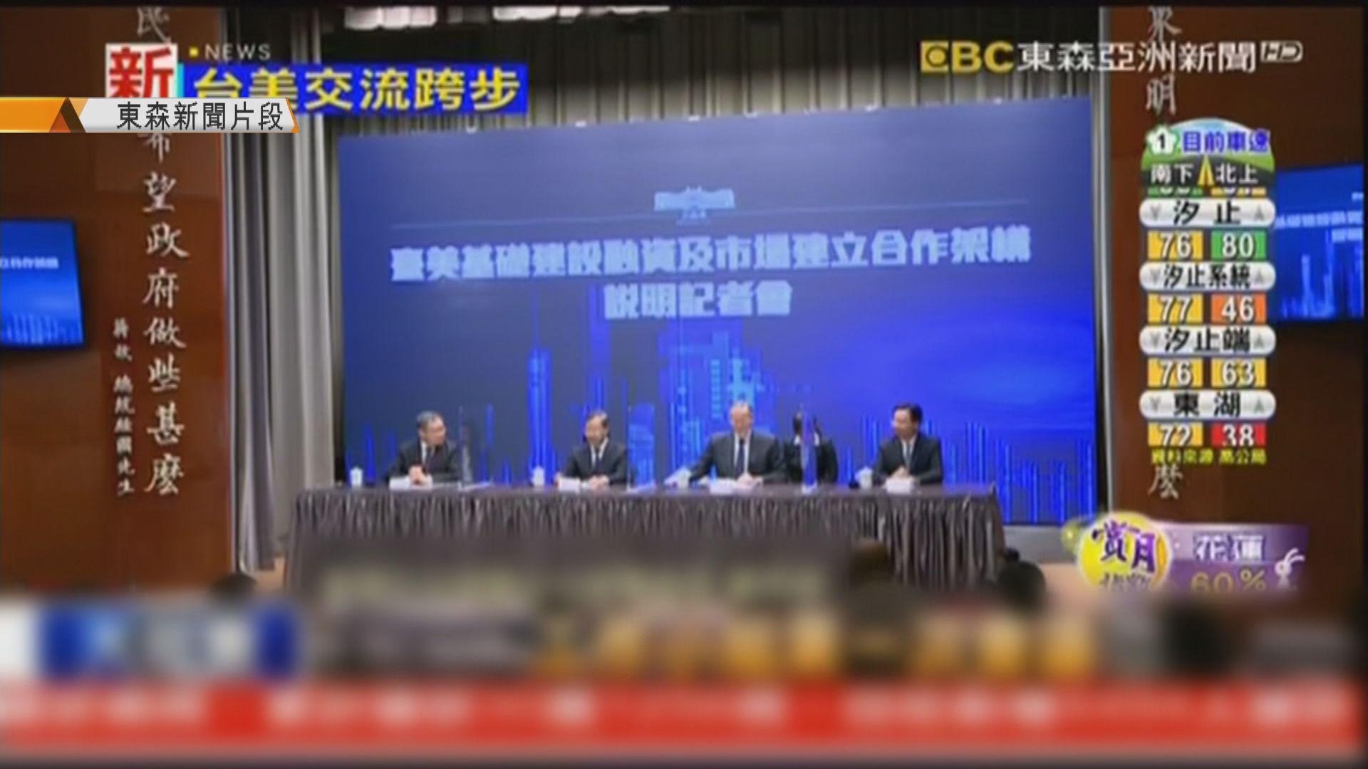 台美簽署備忘錄 加強印太戰略基建合作投資