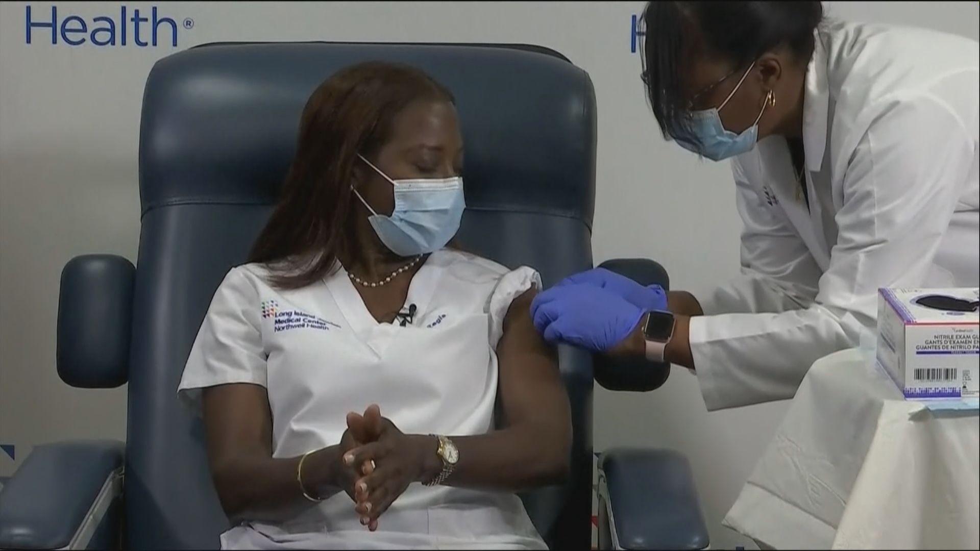 美國開始為民眾接種第二劑新冠病毒疫苗