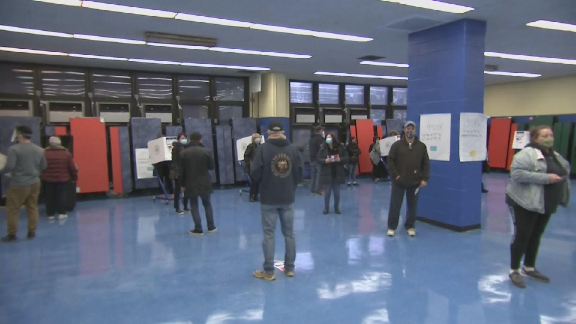 美國總統選舉票站陸續開放