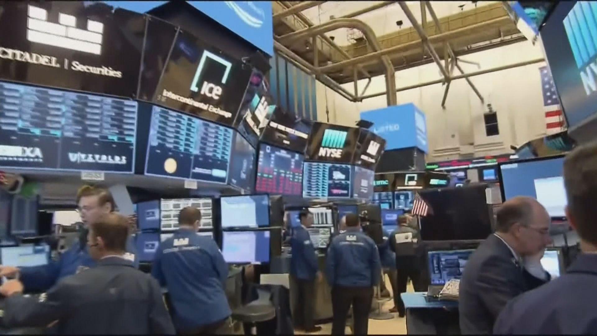 華爾街股市急升 道指重越兩萬五