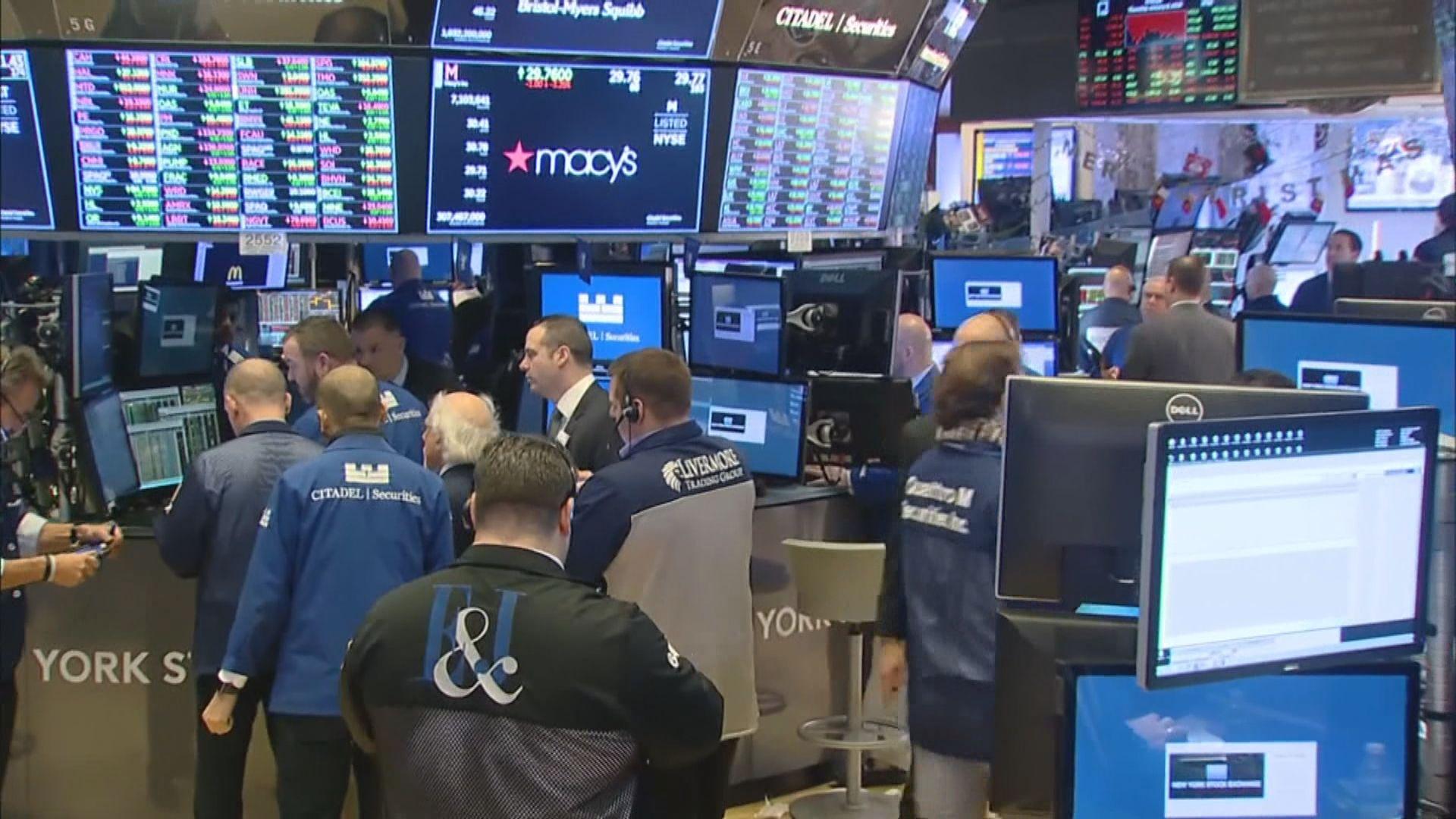 華爾街股市個別發展