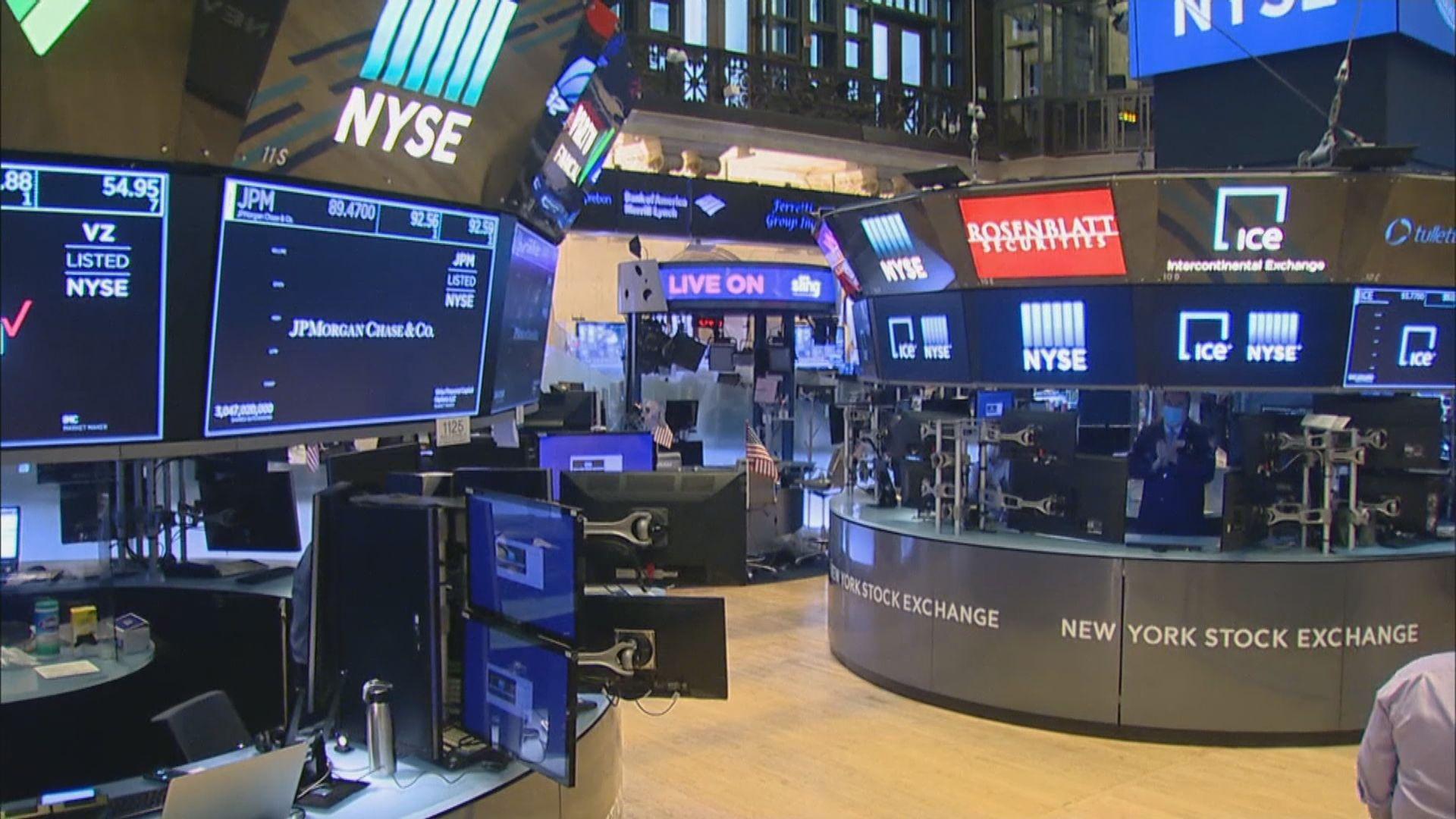 金融股造好帶動美股反彈1%