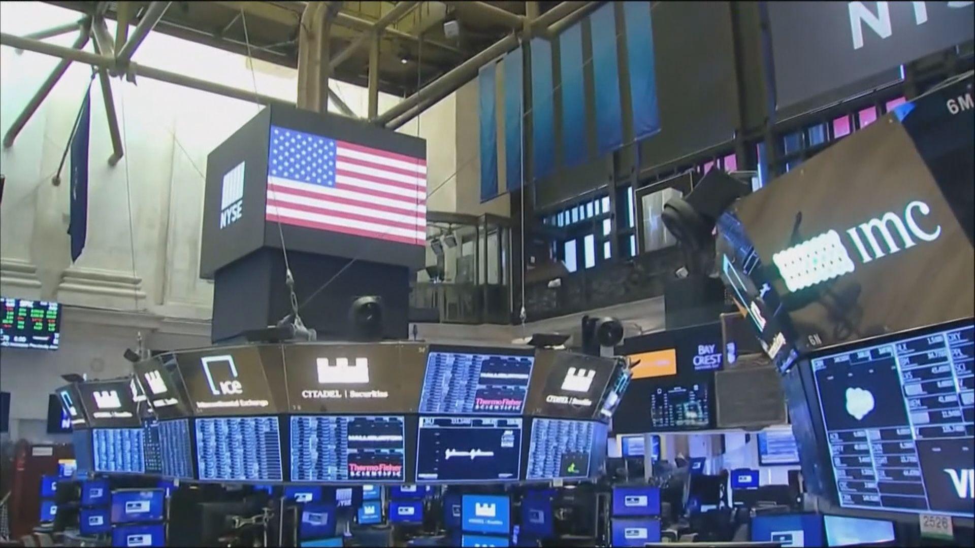 美股反覆上升 主要受大型科網股造好帶動