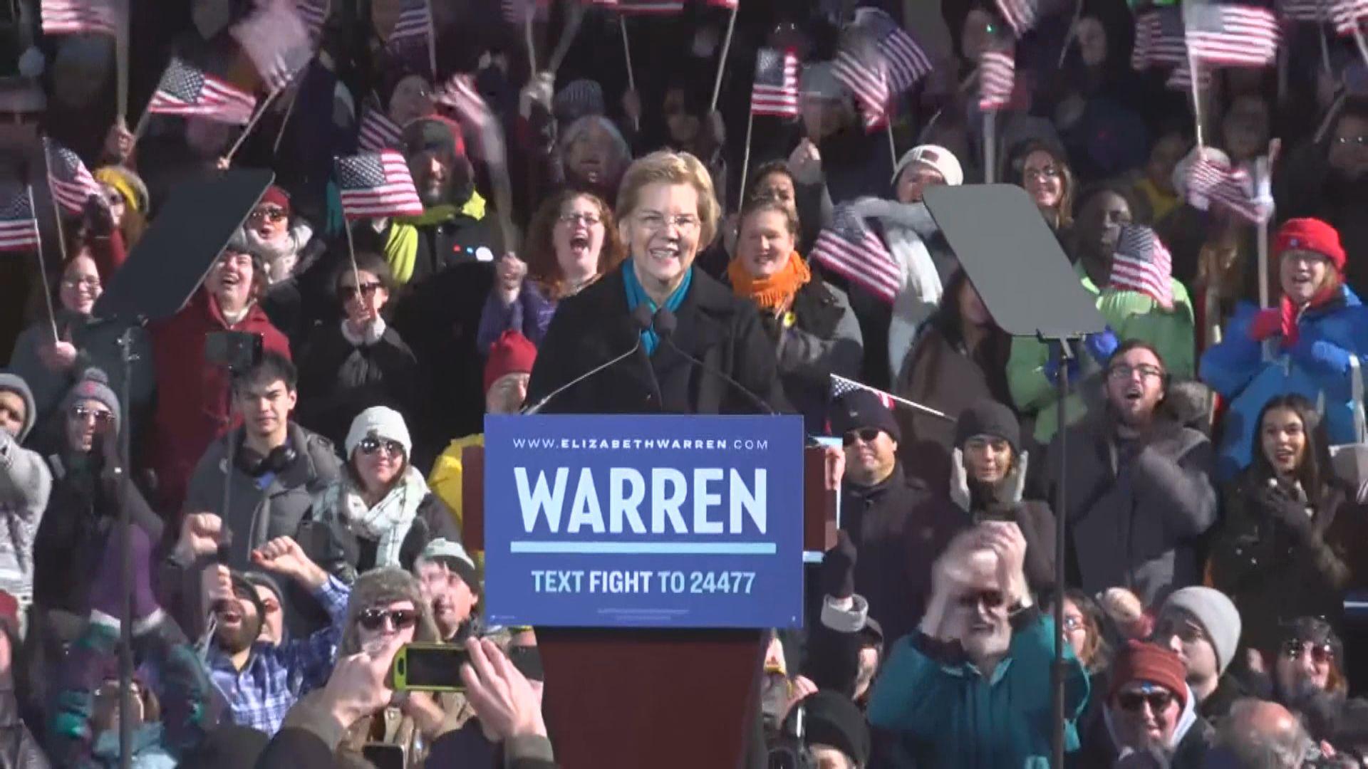 沃倫宣布參選總統選舉 演辭充滿民粹色彩