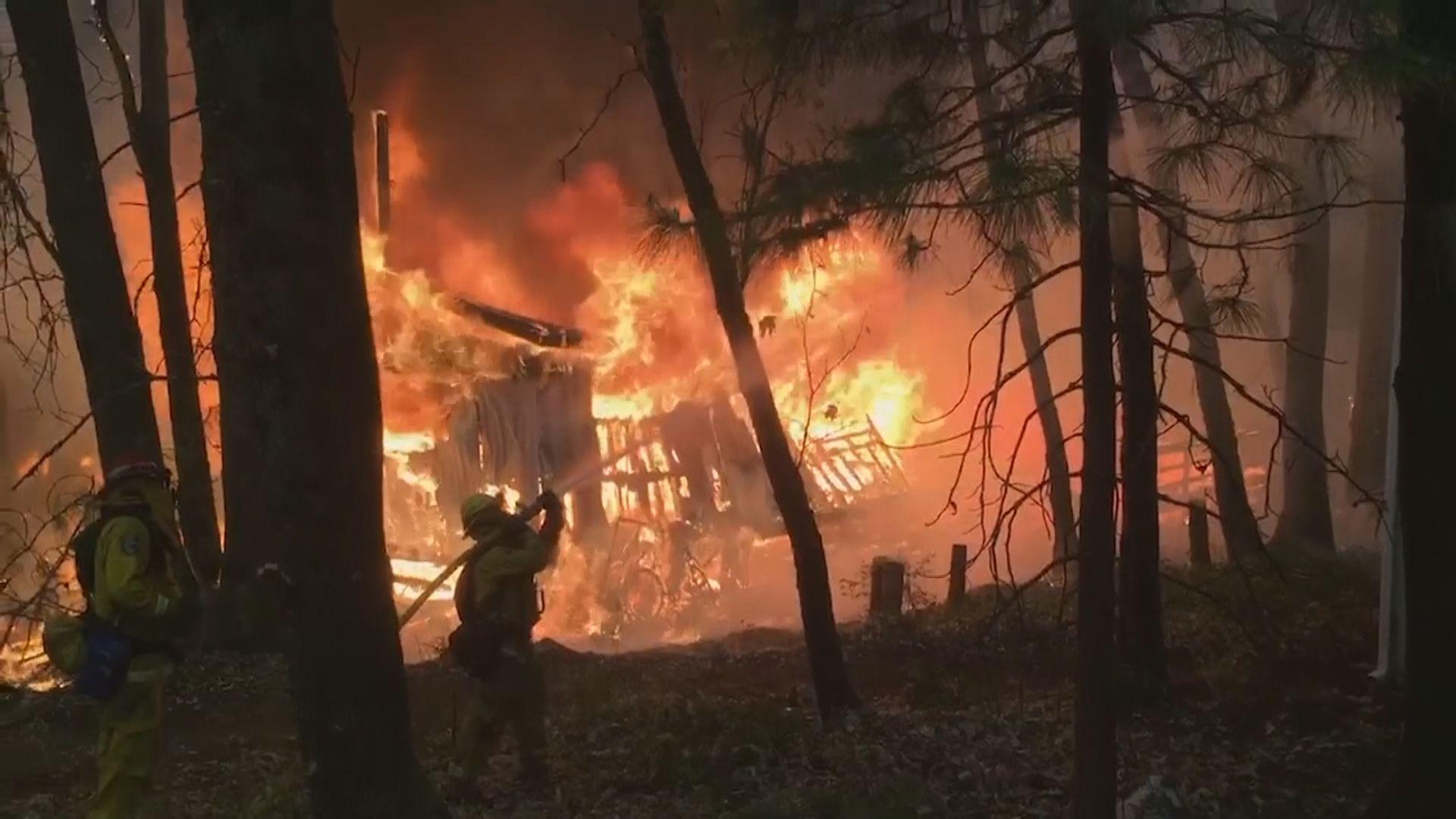美國加州山火失控 十一死三十多人失蹤
