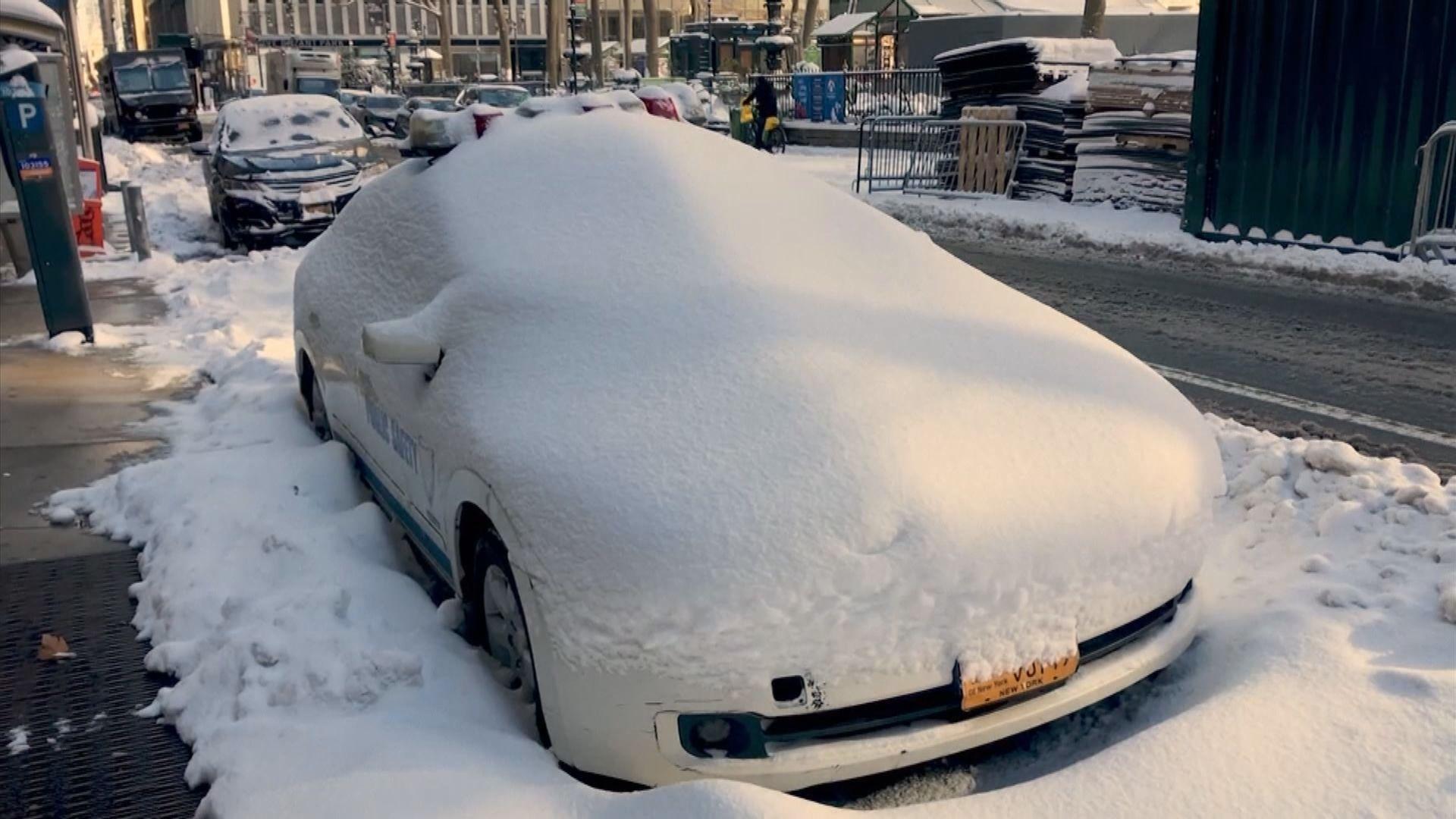 美國東北部出現暴風雪 多地交通受阻