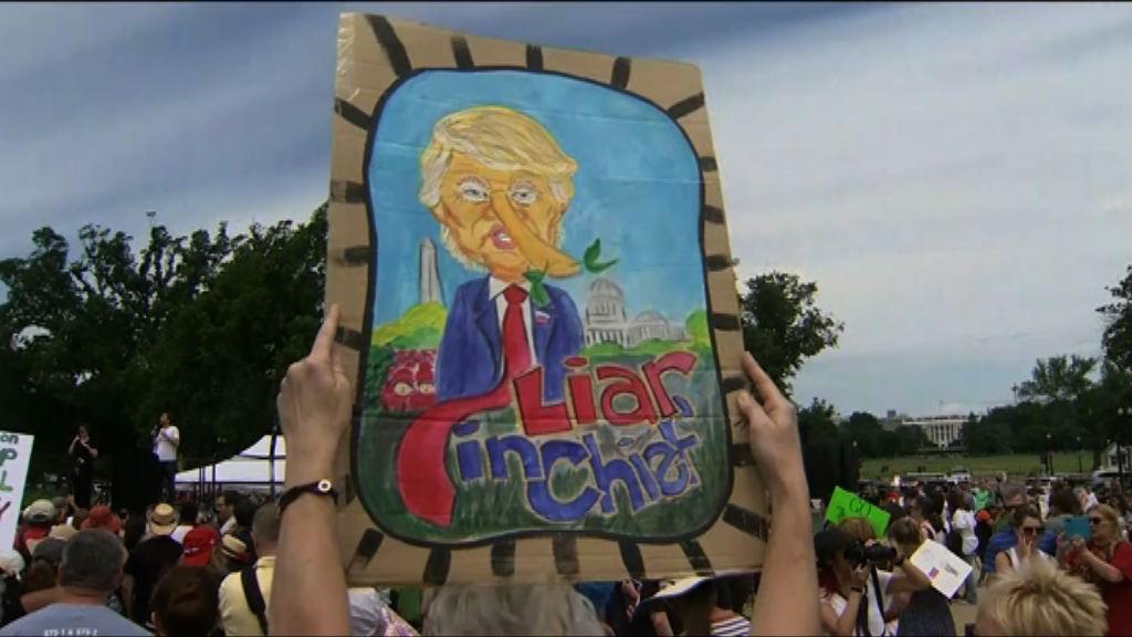 美國逾百城市有反特朗普示威