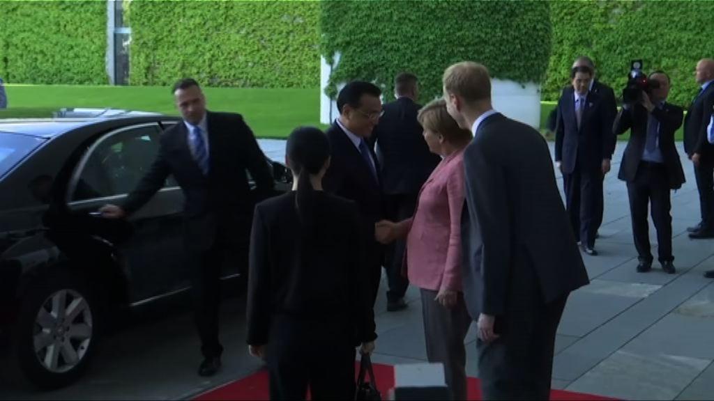 李克強抵達柏林晤總理默克爾