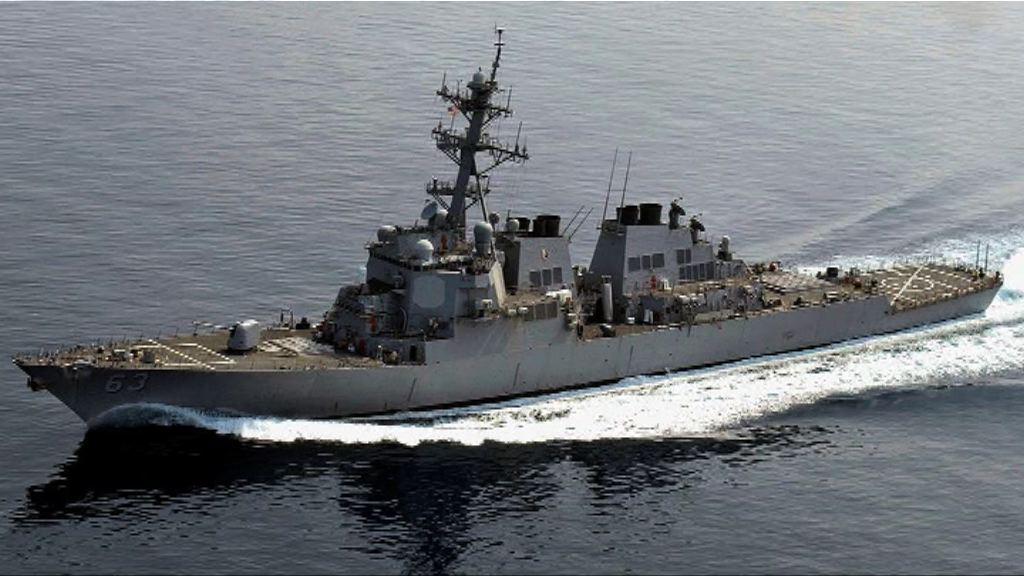 美軍驅逐艦駛近南海中方控制島礁