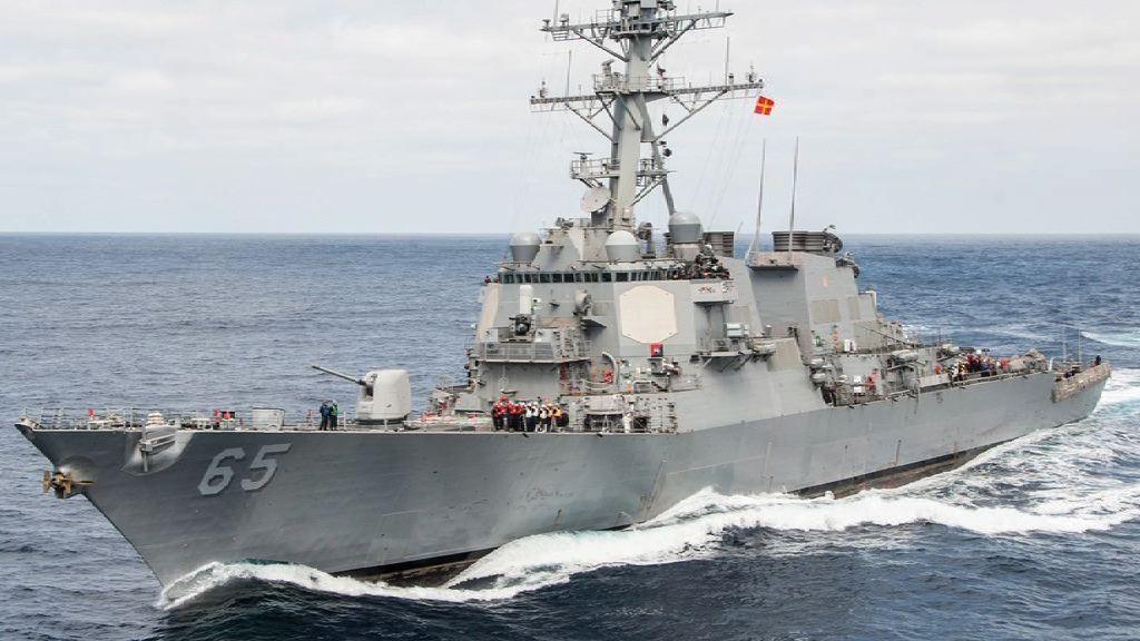 美軍導彈驅逐艦於日本與拖船相撞