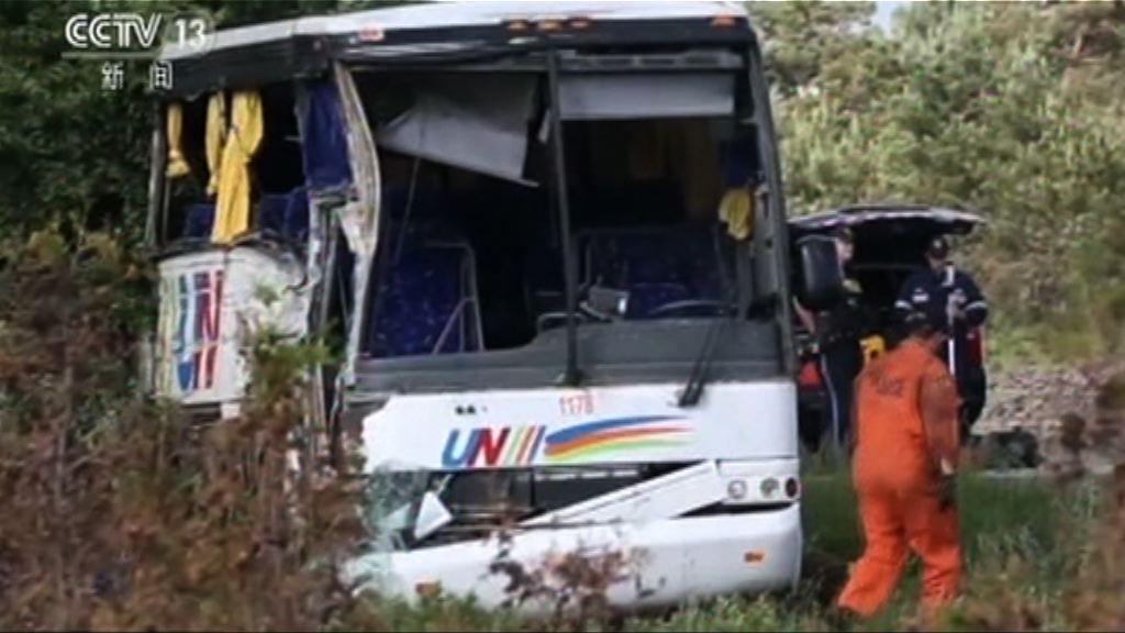 載有中國遊客旅遊巴加拿大遇車禍24人傷