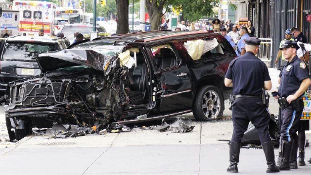 紐約私家車失事撞傷逾十名路人