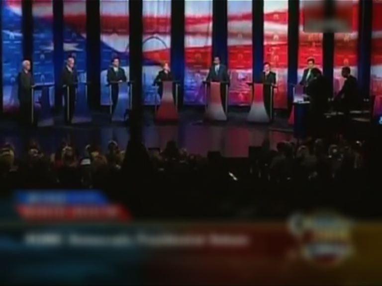 美國民主黨辦六場參選人電視辯論
