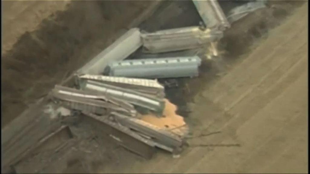 美俄亥俄州火車出軌洩漏化學物