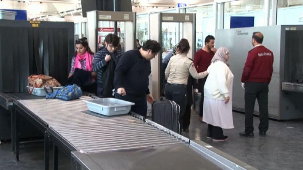 美國電子設備禁上機令或擴至歐洲機場
