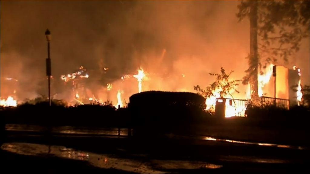 加州北部山火仍未受控 增至15死逾百失蹤