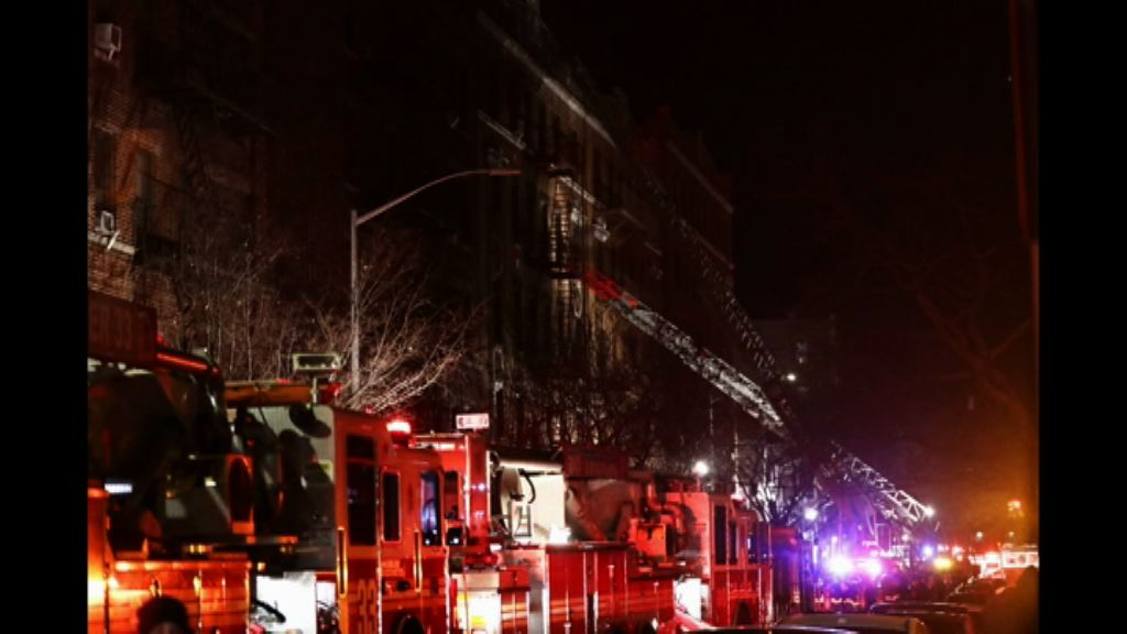 紐約市公寓大火釀十二人死