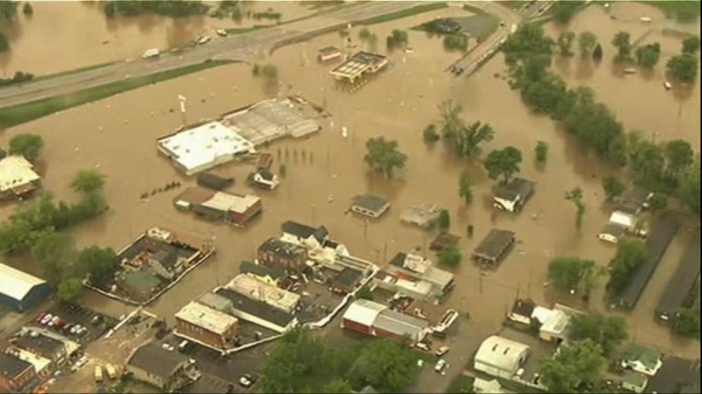 暴雨致河水氾濫 美中西部多處成澤國