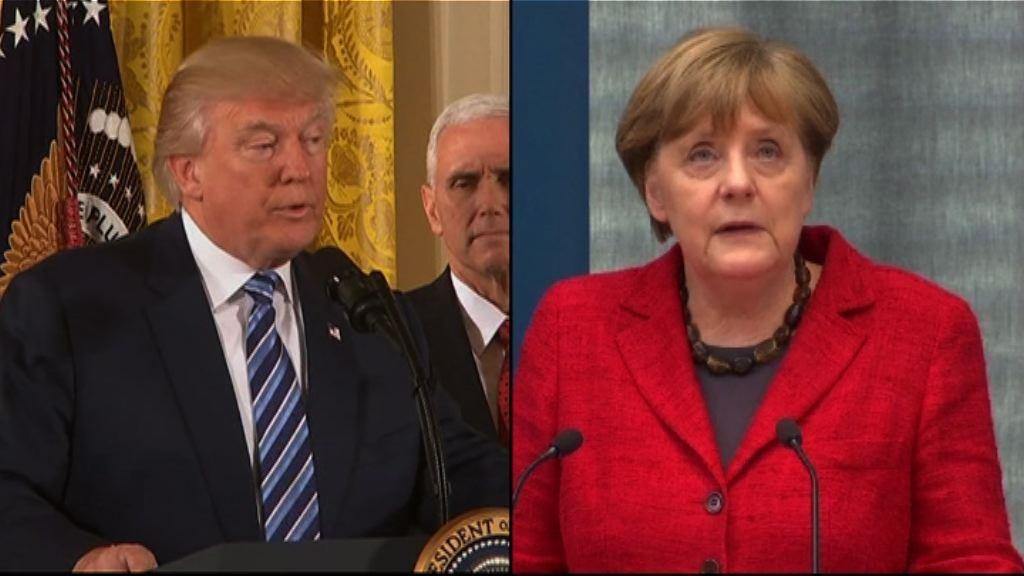 特朗普默克爾本月中白宮會晤