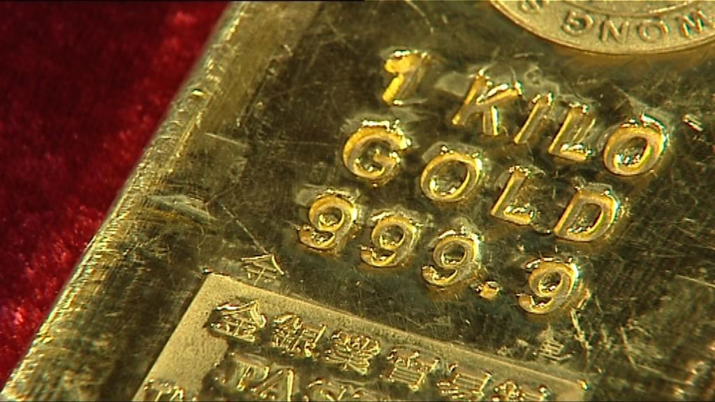 美元上升及北韓緊張關係紓緩 金價下跌