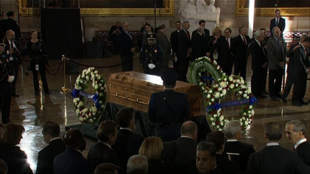 布道家葛培理靈柩移送國會舉行悼念儀式