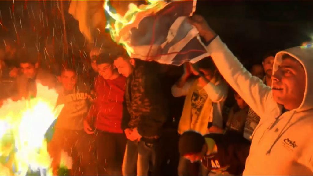 巴勒斯坦人集會抗議特朗普決定